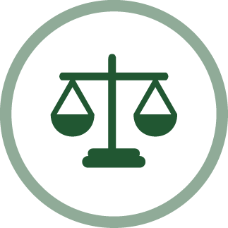 image of scales of justice - fairness icon