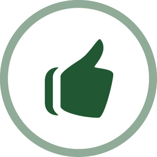 image of a thumbs up - gratitude icon
