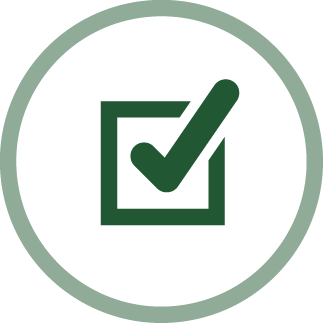 icon of a checkbox - prudence icon
