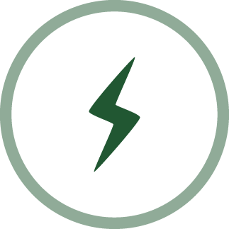 image of a lightning bolt - zest and enthusiasm icon